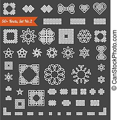 50 collection of knots, vector - 50 collection of Celtic,...