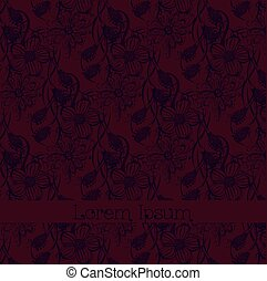 Vector floral background with place for your text.