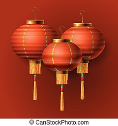 Oriental Chinese New Year lantern