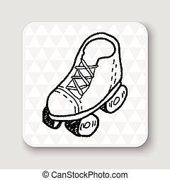 doodle roller skates