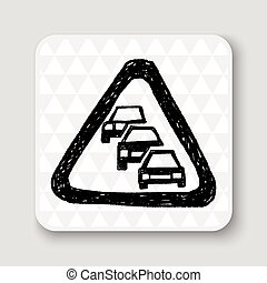 Traffic jam doodle