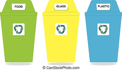 Recycle Bin Trash and Garbage icon - Vector Recycle Bin...
