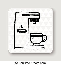 coffee maker doodle