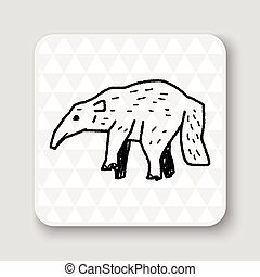 anteater doodle