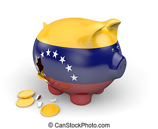 Venezuela economy and finance concept for poverty and...
