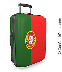 Portugal travel suitcase - Portugal vacation destination...