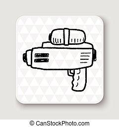 water gun doodle