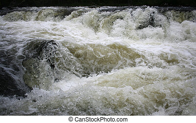River - Mountain river, rushing water flowing texture