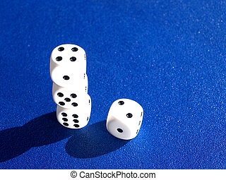 dices on pile