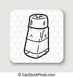 salt pepper doodle