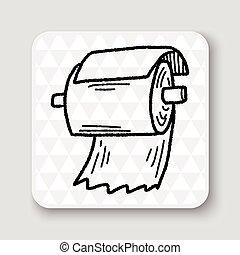 toilet paper doodle