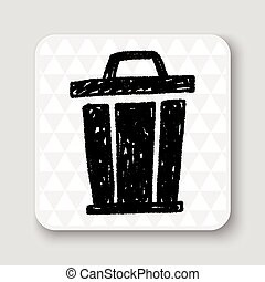 trash can doodle