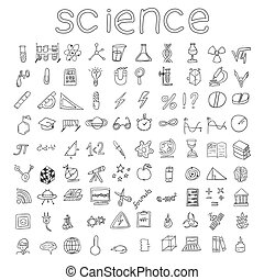 Hand drawn science icons