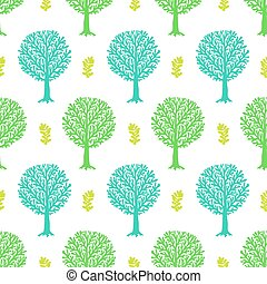 Pattern with trees - Vector seamless pattern with tree...