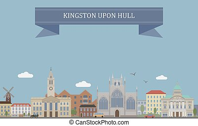 Kingston upon Hull, England - Kingston upon Hull, city and...
