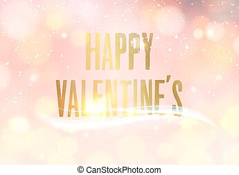 Happy valentine day - Happy valentine day card Gold template...