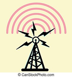 Radio Tower. - On this illustration a tower is represented...