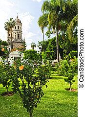 Templo de la Soledad, Guadalajara Jalisco, Mexico - Hibiscus...