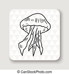 medusa, doodle,