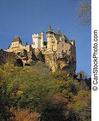 Castle Montfort , valley, forest, autumn, - Valley of...
