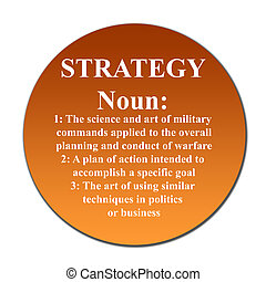 Strategy button - Dictionary definition of word strategy on...