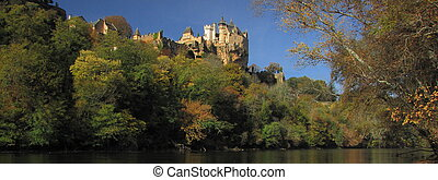 Panorama, Castle Montfort , valley, forest, autumn, - Valley...