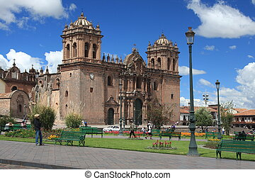 Cathedral in Cusco, Peru - Beautiful Cathedral in Cusco,...
