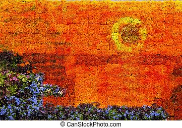Sunset Picture Flower Arrangement