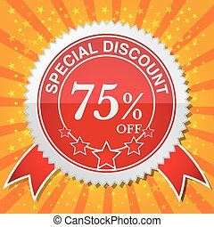 Special Discount 75 Off - Vector illustrator EPS 10
