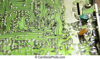 Circuit Boards with Electronic Components 7 - Close-up of...