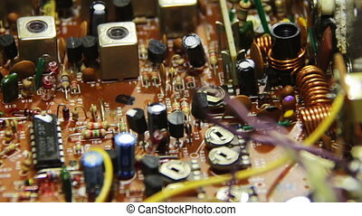 Circuit Boards with Electronic Components 8 - Close-up of...