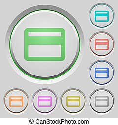 Bank card push buttons - Set of color Bank card sunk push...