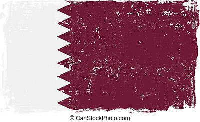 Qatar flag vector isolated on white background.