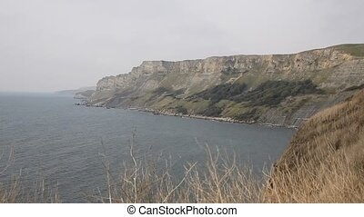Cliffs and jurassic coast Dorset uk Kimmeridge Bay east of...