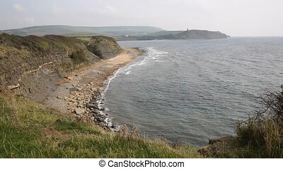 English jurassic coast Dorset uk - Kimmeridge Bay east of...