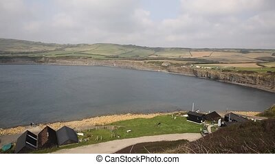 View of Kimmeridge Bay Dorset UK - Kimmeridge Bay east of...