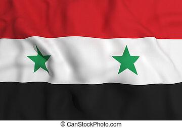 Siria flag - 3d rendering of an Siria flag waving