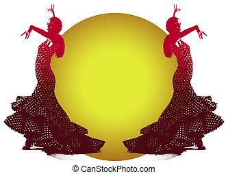Flamenco Dancer - Illustration of Flemenco Dancer