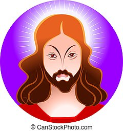 Jesus	 - Illustration of Jesus Christ in blue background