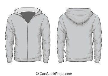 Hoodies shirt vector template - Hoodies shirt template Cloth...