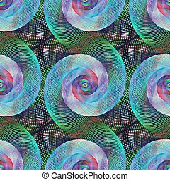 Seamless digital art spiral fractal pattern