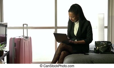 Businesswoman Woman Working Hotel