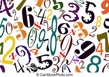 The background of numbers of differ