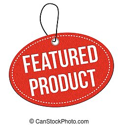 Featured product label or price tag - Featured product red...