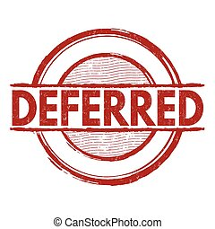 Deferred stamp - Deferred grunge rubber stamp on white...