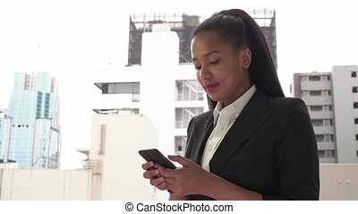 Business Woman On Smartphone Email