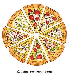 Tasty Sliced Pizza Illustration