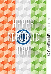 colorful happy republic day banner