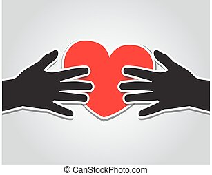 Hands holding the heart
