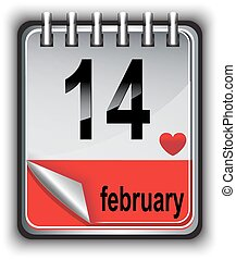 Calendar for February 14 - calendar for the spring. On the...